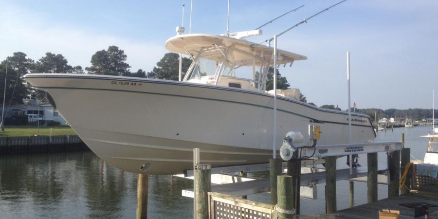 Four-Post Boat lift solution by Golden