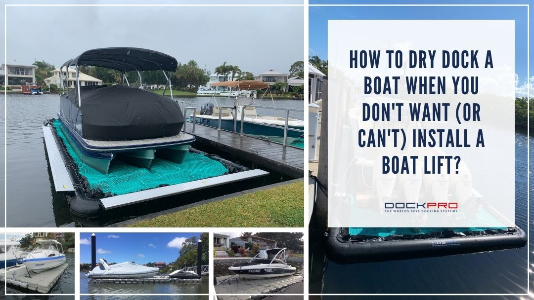 How to dry dock a boat when you don't want or can't install a boat lift.